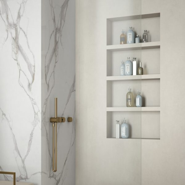 Infinity MB06 RE02 CalacattaGold TotalIvory Ambiente Dettaglio 2