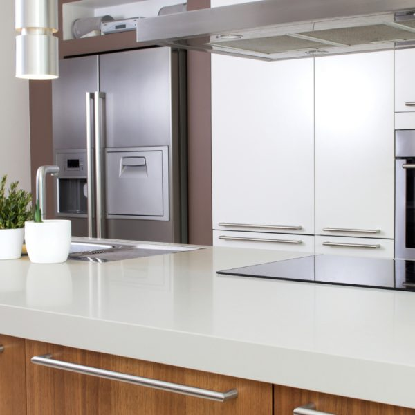 Interior Of Modern Kitchen With Household Goods